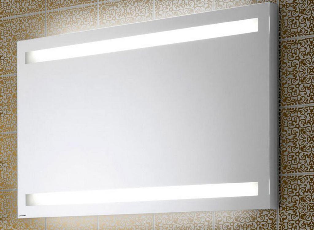 Espejo luz led integrada 2 barras horizontal - Espejo bano luz integrada ...