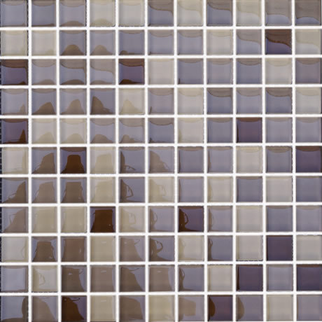 Malla 8mm Crystal Mosaics Coffee 801