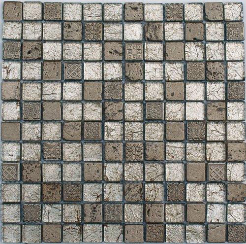 Cabinas De Baño Castel:Malla 8mm Crystal Mosaics Atika Platino – Oikos Design