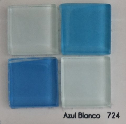 Malla 4mm Crystal Mosaics Azul Blanco 724 en internet