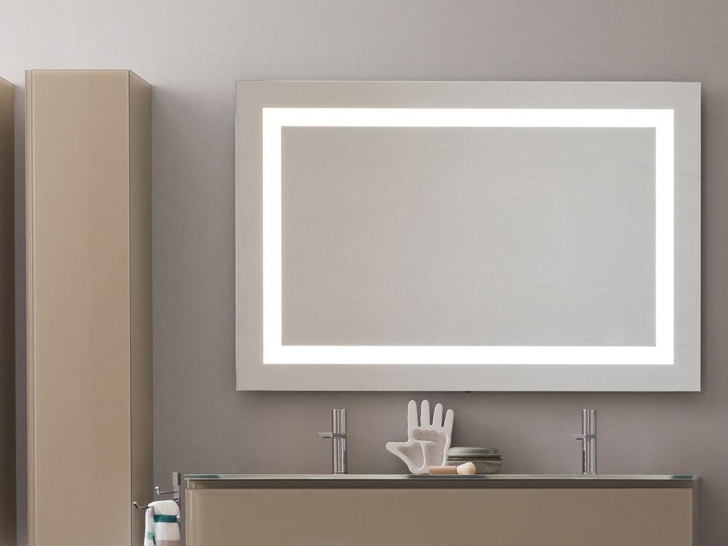Espejo para baño luz led marco