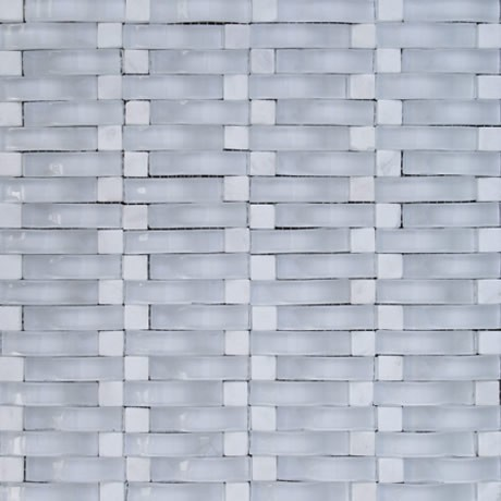 Malla 8mm Crystal Mosaics Galiano Blanco
