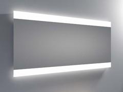 espejo luz led integrada resplandor barras