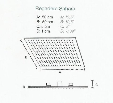 croquis regadera led
