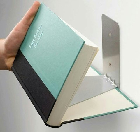 ESTANTE PARA LIBROS INVISIBLE en internet