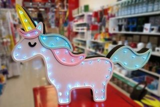 Cartel luminoso unicornio