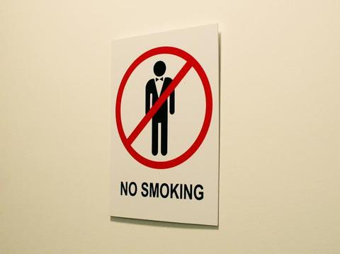 Cartel No smoking!