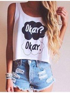 Camisa Feminina Okay Verão
