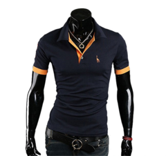 Camisa Casual Slim Fit Elegante manga curta