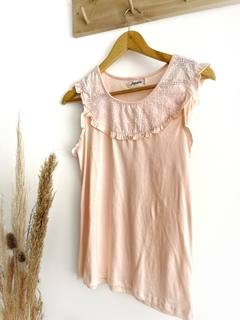 remera algodon broderie rosa