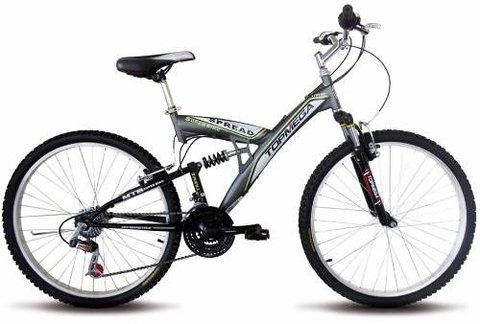 Bicicleta Mountain Bike Rod 20 Doble Suspension 18 Vel Mega