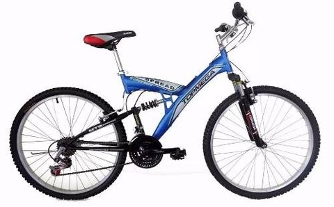 Bicicleta Doble Suspension Spread Rodado 20 -18 Vel Top Mega