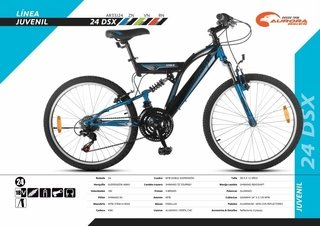 Bicicleta Mountain Bike Aurora 24 Dsx Suspension Shimano  3J24