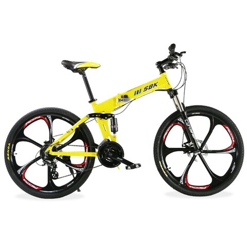 Bicicleta Plegable Sbk Doble Suspension Rodado 26 Discos