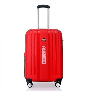 VALIJA CHICA TRAVEL TECH IRROMPIBLE ROJA. 25194