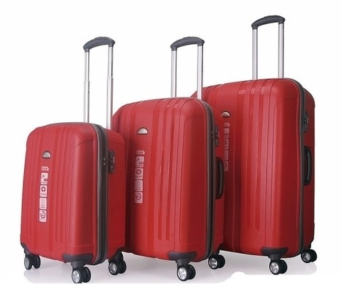 SET DE VALIJAS TRAVEL TECH IRROMPIBLE ROJ0. 25194
