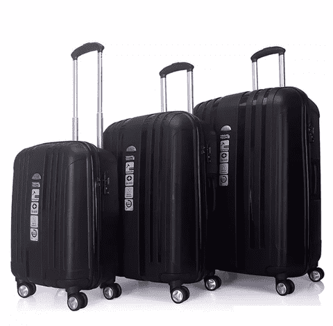Set De Valijas 20-24-28 Travel Irrompible Candado Tsa.25193