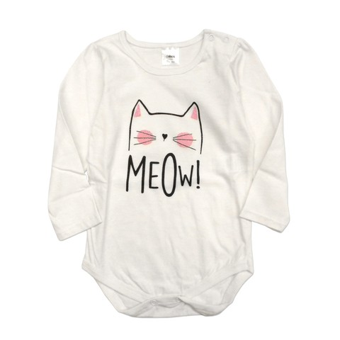 Body Mini bullo m/l blanco est Meow