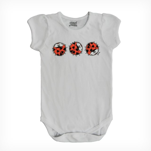 Body Mini Bullo m/c Blanco est Lady Bugs
