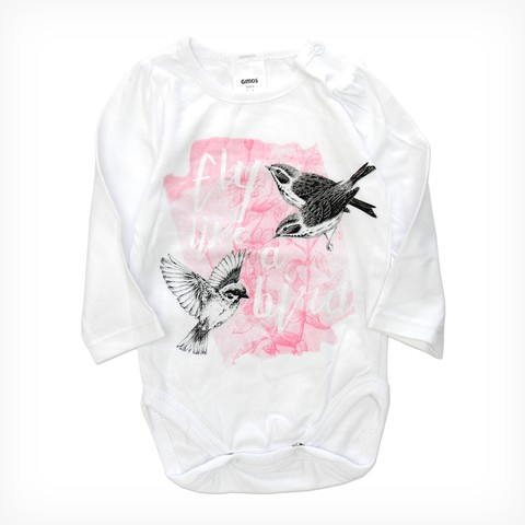 Body mini bullo m/l blanco est Flyng Birds