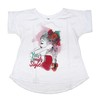 Remera Aroa m/c blanca est Wild Child