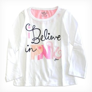 Remera Aurora m/l blanco est Believe in Pink