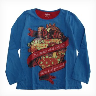 Remera Bolena azul m/l est Tatoo Heart