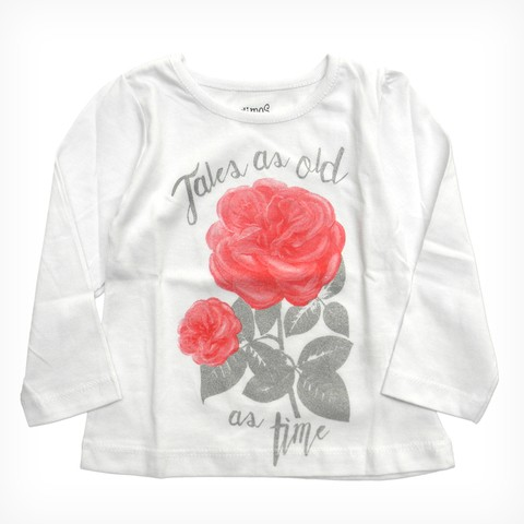 Remera Bolena bco m/l est Tale as Old