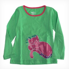 Remera Bolena m/l verde est Sleepy Cat