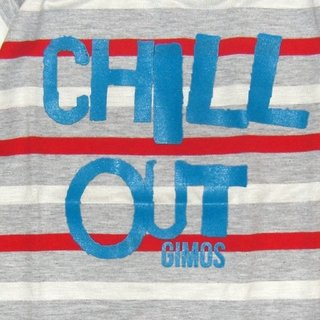 Remera Clasica m/c rayado rojo/bc/gris est Chill out - comprar online