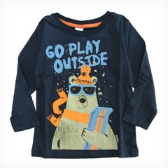 Remera Clásica m/l azul est Go play outside