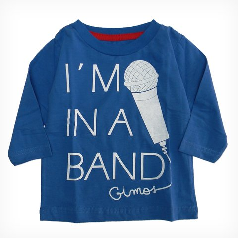 Remera Clasica m/l azul est Im in a band