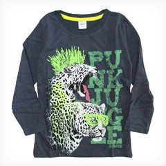 Remera clasica m/l azul est Punk Jungle