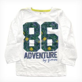 Remera Clásica  blanco m/l Est Adventure
