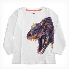 Remera Clásica m/l Blanco Est Dino Color