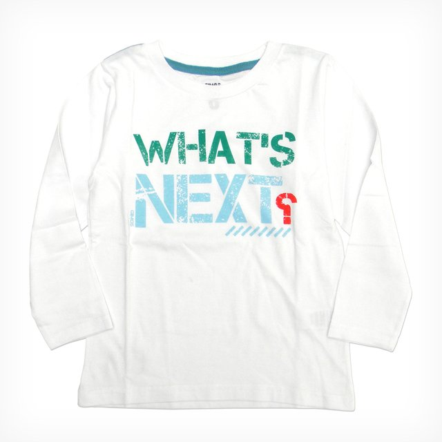 Remera Clásica m/l Blanco Est What s Next