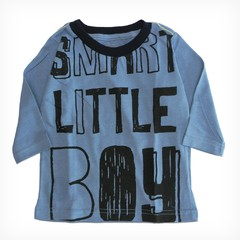 Remera Clasica m/l celeste est Smart Little