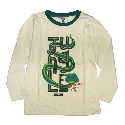 Remera Clasica m/l crudo est Jungle