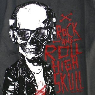 Remera Clasica m/l Gris est Rock High Scool - comprar online