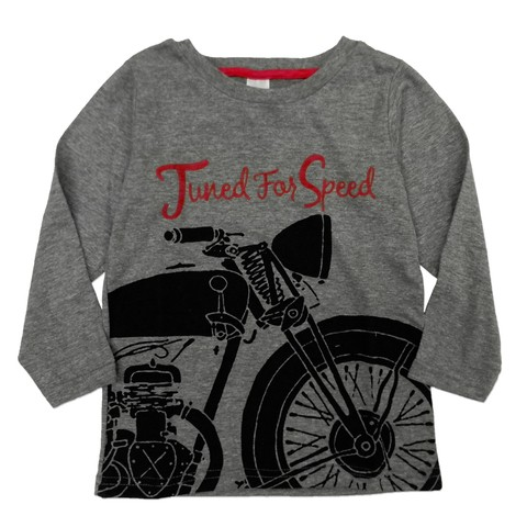 Remera Clasica m/l gris est Tuneb for speed