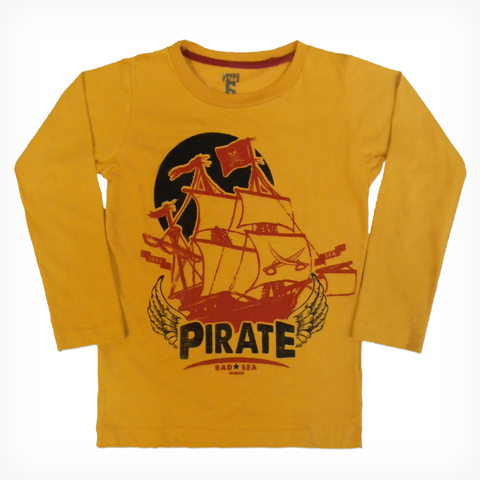 Remera Clásica m/l Mostaza est Pirate