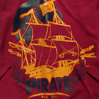 Remera Clásica m/l Bordo est Pirate - Gimos