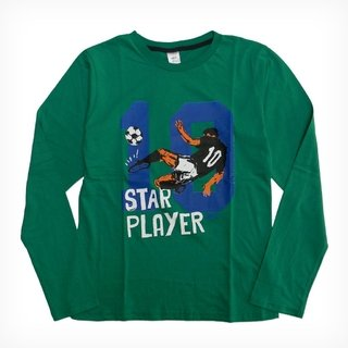 Remera Clásica verde m/l Est Star Player