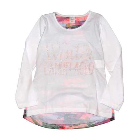 Remera Miley m/l blanca est Winter Camuflada