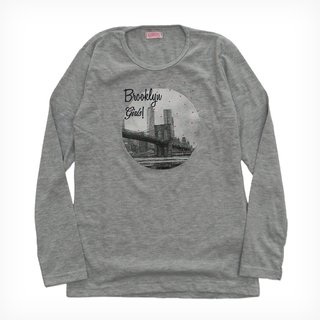 Remera Bolena m/l gris melange est Brooklyn Girls