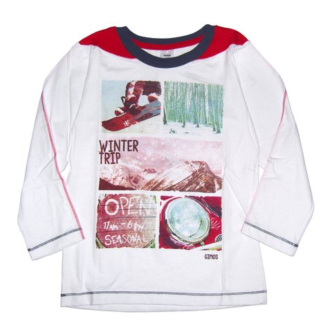 Remera Quique m/l blanco est Winter Trip