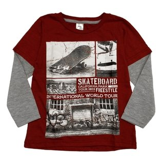 Remera Skate m/l bordo est California Park