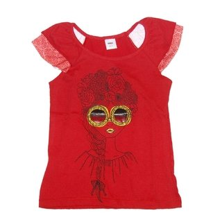 Remera Tropical m/c roja est Nena Cele