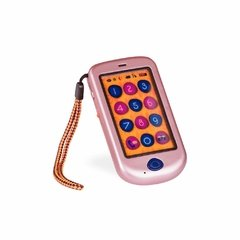 B. Hi!! Phone (Metallic Rose Gold). Telefono celular rosa.