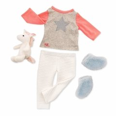 Our Generation Unicorn Wishes. Set de pijama con unicornio